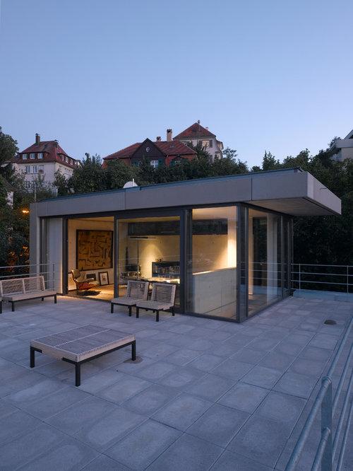 Huge Modern Rooftop Deck Idea In Stuttgart