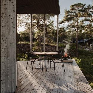 Skandinavisk inredning av en terrass