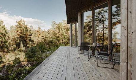Houzz Швеция: Архитектура, которая сливается с ландшафтом