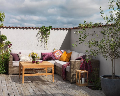 mediterrane terrasse g teborg ideen design bilder houzz. Black Bedroom Furniture Sets. Home Design Ideas