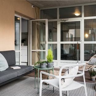 Inspiration för nordiska terrasser, med takförlängning