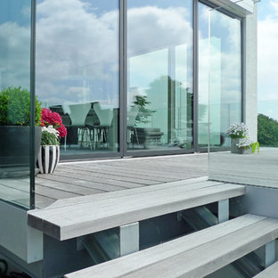 Design ideas for a scandinavian terrace and balcony in Other.