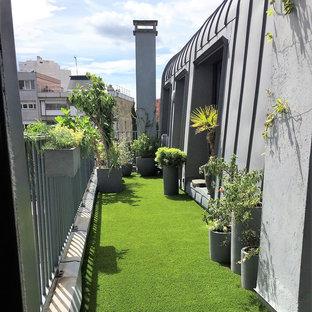 Aménagement d'une terrasse d'un loft Parisien au dernier étage