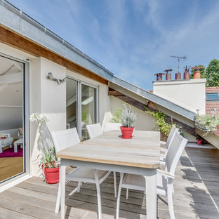 Design ideas for a scandi roof terrace and balcony in Paris with no cover.