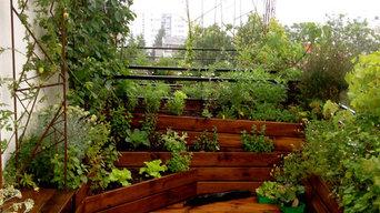 Aménagement de deux espaces de terrasse