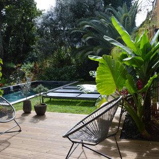 Ispirazione per una terrazza design