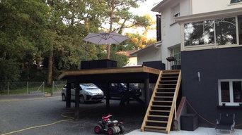 Conception et permis de construire d'une terrasse/balcon en bois