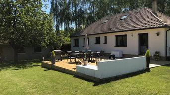 Création d'une terrasse en bois et aménagement de terrain
