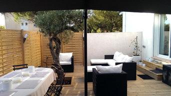 création d'une terrasse en platelage bois