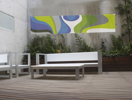 Contemporary Deck by deborah Sommers
