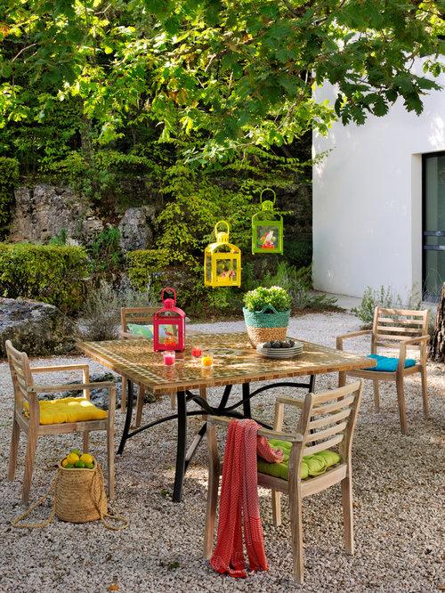 Photos et id es d co de terrasses campagne for Decoration jardin rustique