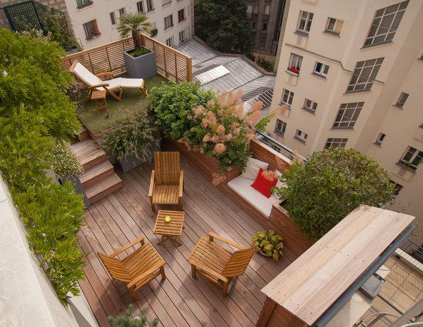 Contemporáneo Terraza y balcón by L'esprit au vert
