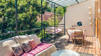 Evasion Urbaine à Marseille - terrasse en bois romantique