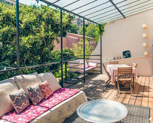 Photos et id es d co de terrasses romantiques for Decoration jardin romantique