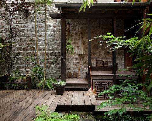 Asian deck design ideas remodels photos - Idee deco petite terrasse ...