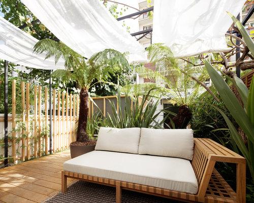 Photos et id es d co de terrasses avec des plantes en pots exotiques - Decorer une terrasse avec des plantes ...