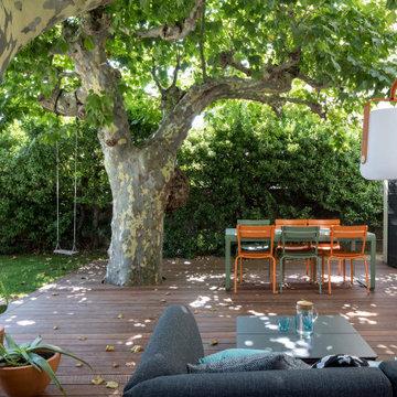 Jardin urbain minimaliste