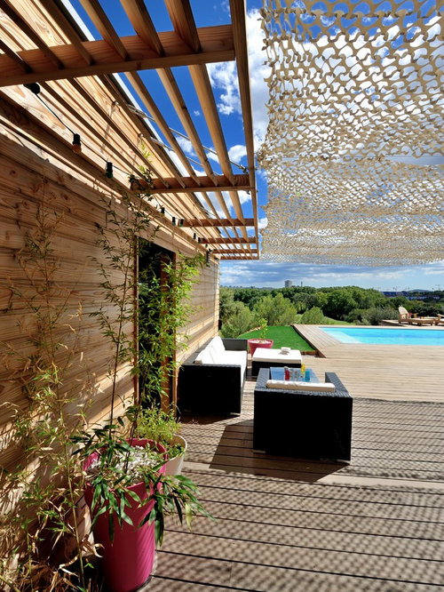 mediterrane terrasse mit k belpflanzen ideen design bilder houzz. Black Bedroom Furniture Sets. Home Design Ideas