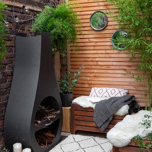 Inspiration pour une terrasse design.