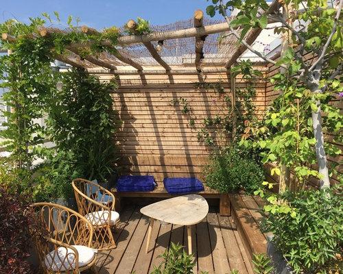 photos et id es d co de terrasses avec des plantes en pots bord de mer. Black Bedroom Furniture Sets. Home Design Ideas