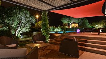 Le jardin d'une villa d'architecte