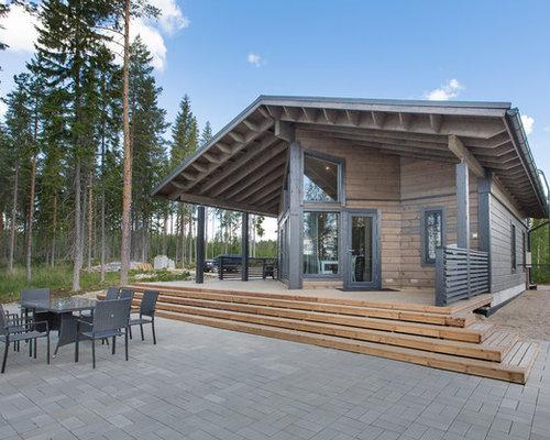 Maison bois massif scandinave for Maison scandinave bois