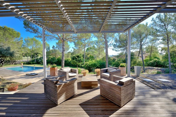 Contemporain Terrasse en Bois by JOSE MARCOS ARCHITECTEUR