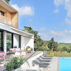 maison contemporaine en bton charbonnires - Maison Moderne Beton