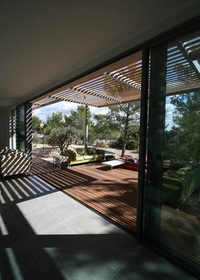 Contemporain Terrasse en Bois by JOSE MARCOS ARCHITECTEUR