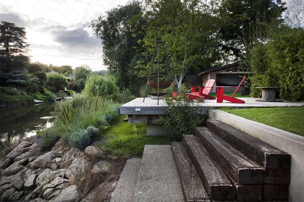 Campagne Terrasse en Bois by Olivier Chabaud Architecte