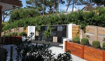 """Mur d'eau """"Natura Wall"""" sur une terrasse"""