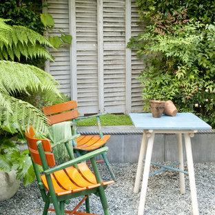 Idee per un patio o portico eclettico