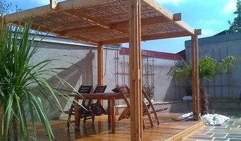 Pergola en bambou et bois SANDHA