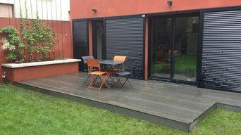 Pose d'une terrasse en bois composite (Silvadec), Montreuil-sous-Bois