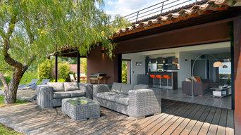 Réalisation d'une terrasse en bois exotique à la Cadière d'Azur