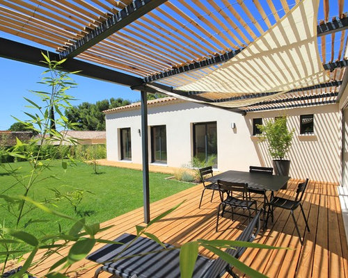 Photos et id es d co de terrasses avec une pergola - Photo de terrasse moderne ...