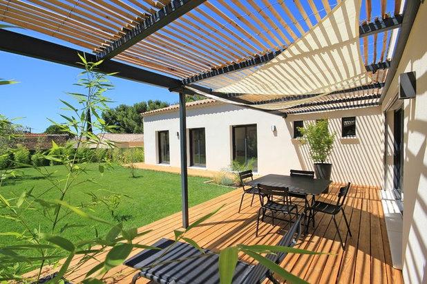 Contemporain Terrasse en Bois by Les Villas Modernes