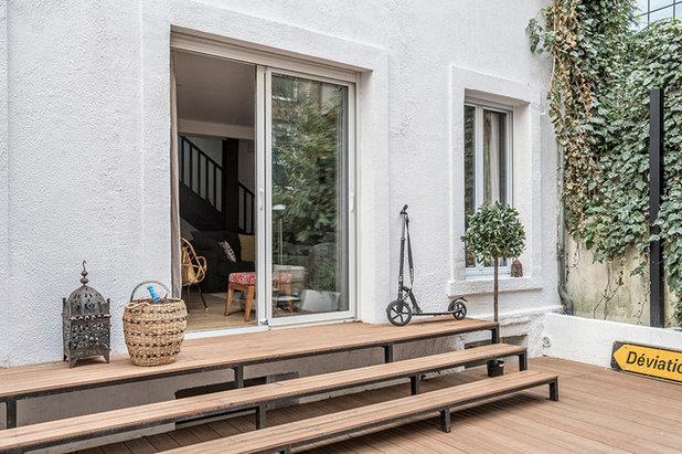 Moderne Terrasse en Bois by Olivier Stadler Architecte
