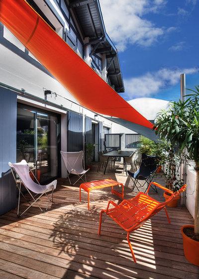 Contemporain Terrasse en Bois by Atelier idea | Architectes d'Intérieur