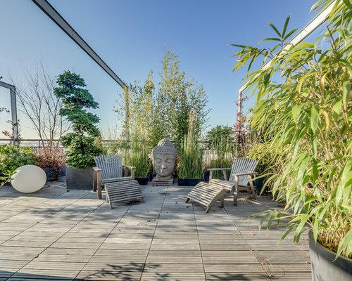 Photos et id es d co de toits terrasse asiatiques for Deco plante terrasse