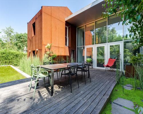 Grand Foyer Exterieur : Photos et idées déco de terrasses avec un foyer extérieur