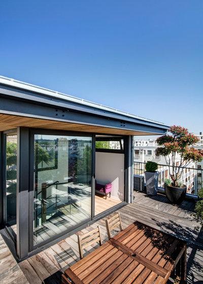 Visite priv e un intrigant duplex avec terrasse boulogne for Edicule toiture terrasse