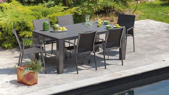 Terrasse aménagée avec du mobilier de jardin Proloisirs