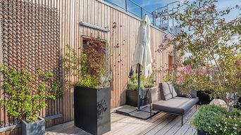 Terrasse - Ecrin de bois pour un air de Méditerranée à Montreuil !