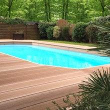 terrasse en bois composite design - Minimalistisch ...