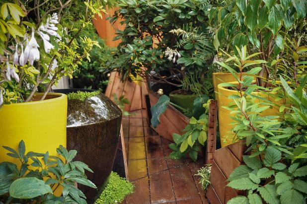 Contemporain Terrasse en Bois by ATELIER DLV - Paysagiste concepteur