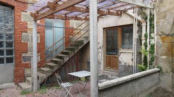 Terrasse et aménagement de cours