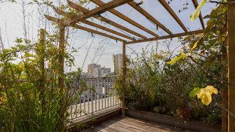 Terrasse plein sud en duplex Paris XXème