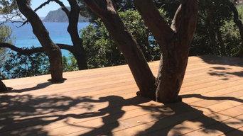 Terrasse privée au Rayol Canadel