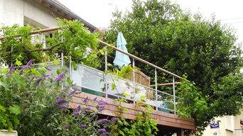 Terrasses contemporaines sur poteaux